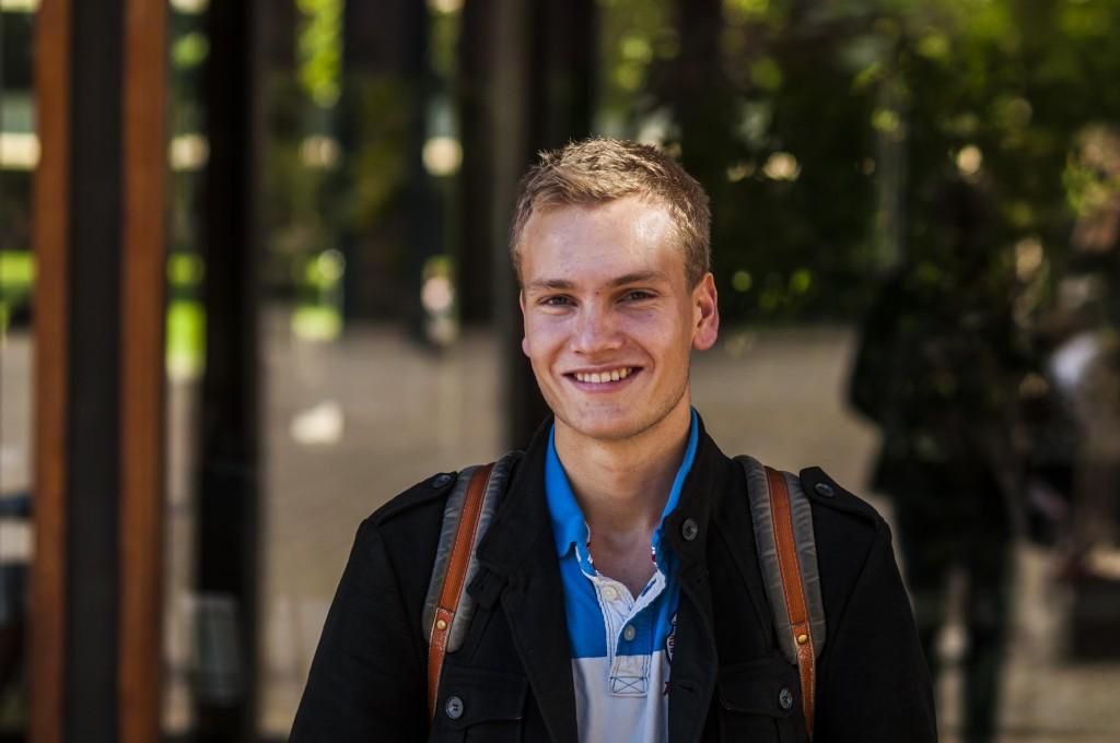 Fredrik Myhren Heby er student ved UiO, og mener at politikerne må prioritere heltidsstudentene. Foto: Lars Petlund Breiby