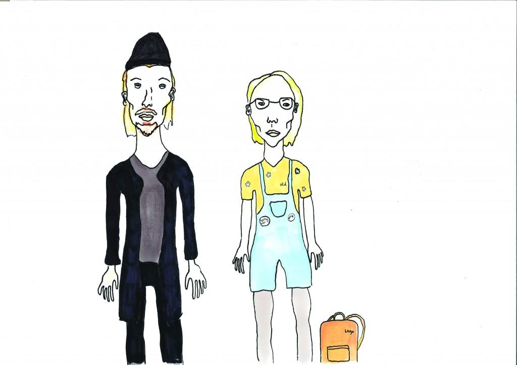 Hipster 1.0 og 2.0. Illustrasjon:Erla Audunsdottir/Remiss