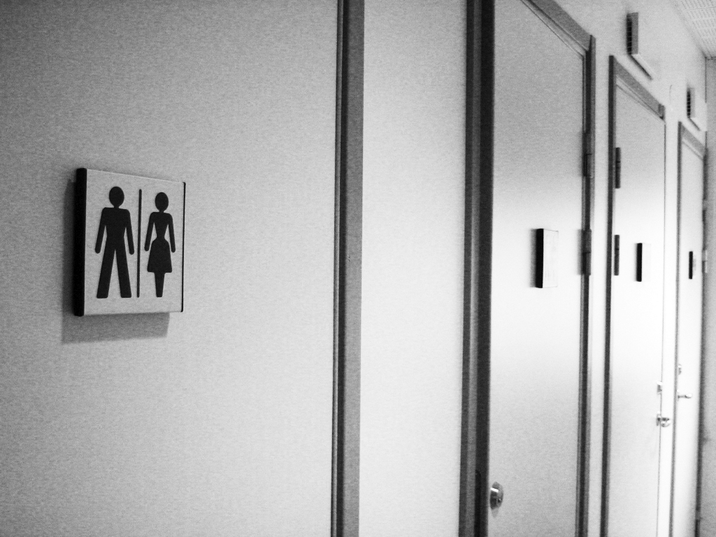 Gender neutral bathroom-trykk