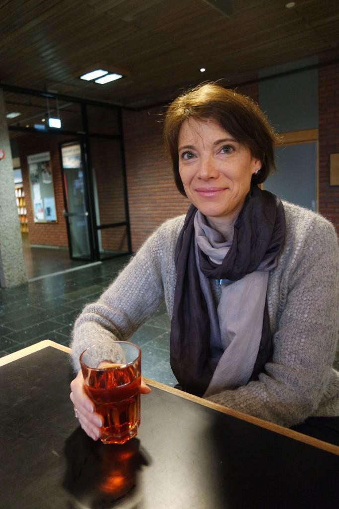 O'Brien lot seg intervjue på én betingelse: at hun slapp å drikke kaffe. Foto: Tana Blegen