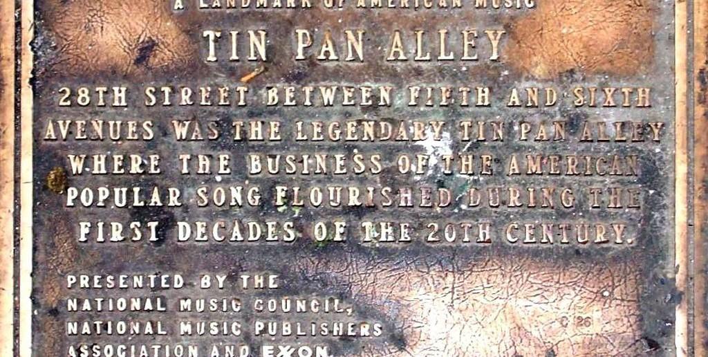 TIN PAN ALLEY: Gata med alle låtskriverane. Foto: Ben Sutherland/Wikimedia commons