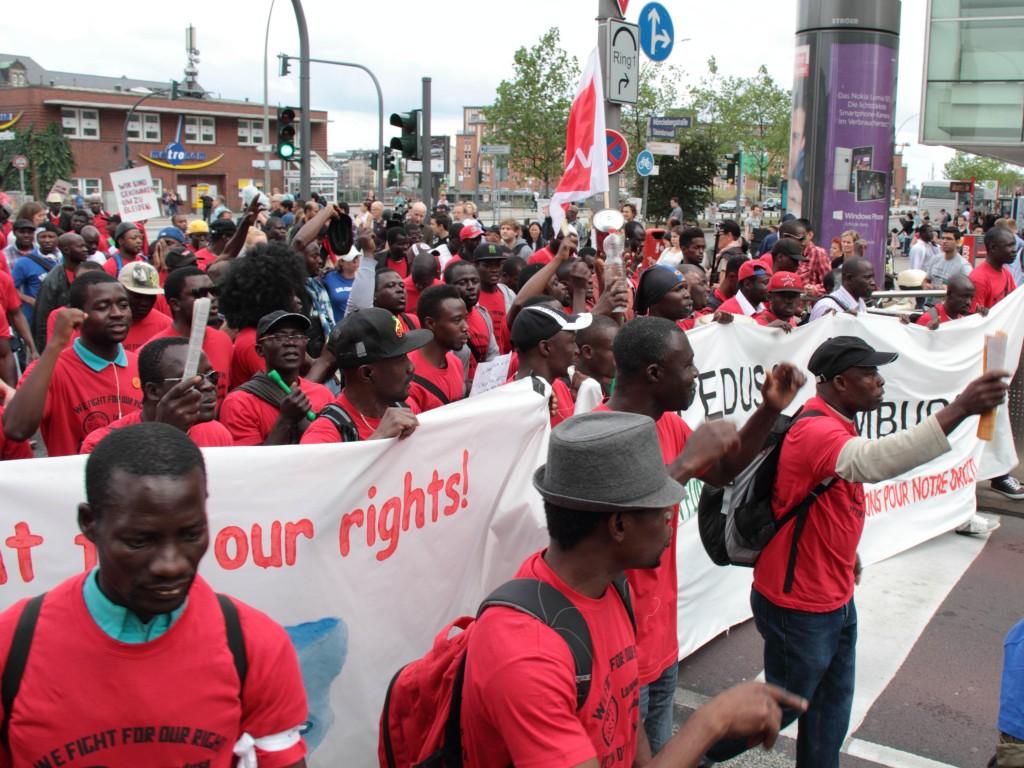 Engasjement: Den påfølgende debatten etter Lampedusa-ulykken har ført til demonstrasjoner i flere tyske storbyer. Foto: Rasande Tyskar/Flickr Creative Commons