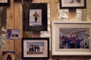 Inspirerende: Månefisken var pyntet opp med bilder fra skiskolen i Bamyan for anledningen. Foto: Øyvind Aukrust