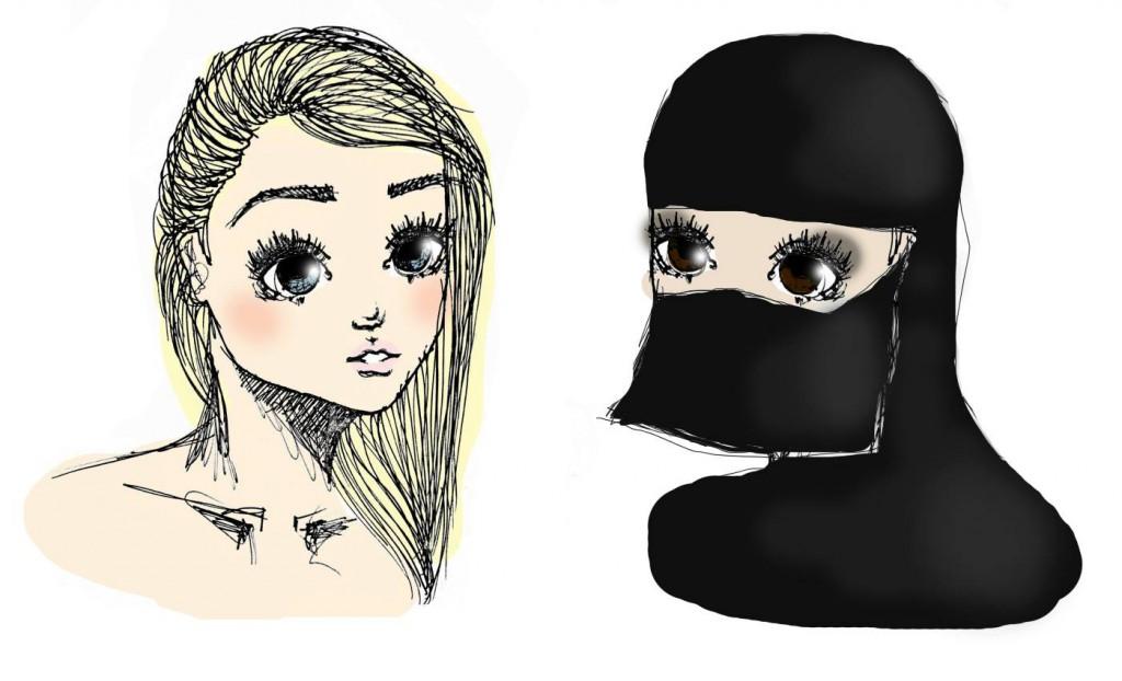 burka illustrasjon