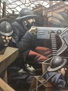 LA MITRAILLEUSE: Døme på modernistisk kunst. Bilete: Christopher Nevinson