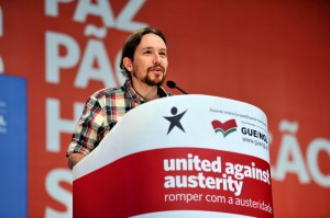 UTFORDRER?: Kan Pablo Iglesias og spanske Podemos utfordre det spanske topartisystemet?. Foto: Bloco photostream/Flickr.com