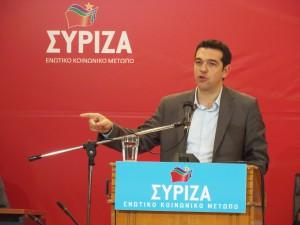 UNG OG KARISMATISK: Alexis Tsipras, leder for greske Syriza. Foto: Joanna/Flickr.com