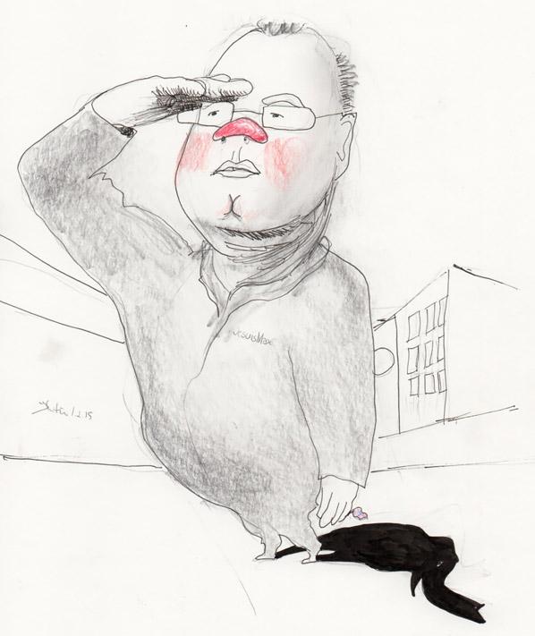 Elefanten i rommet. / Illustrasjon: Kristin B. Bruun